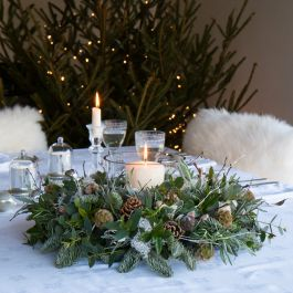 Nordic Foliage Table Wreath | Fresh Christmas Wreaths | The