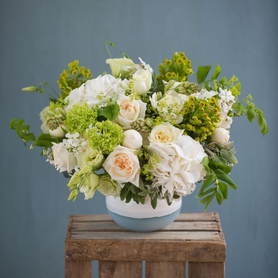 Chelsea Green & White Bouquet - From: