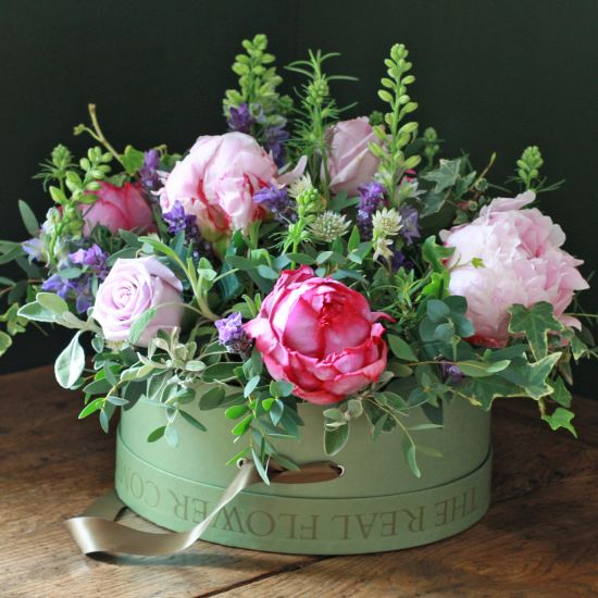 Chelsea Cottage Garden Hat Box Arrangement