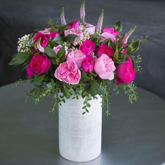 SELFRIDGES David Austin Mixed Pink Bouquet