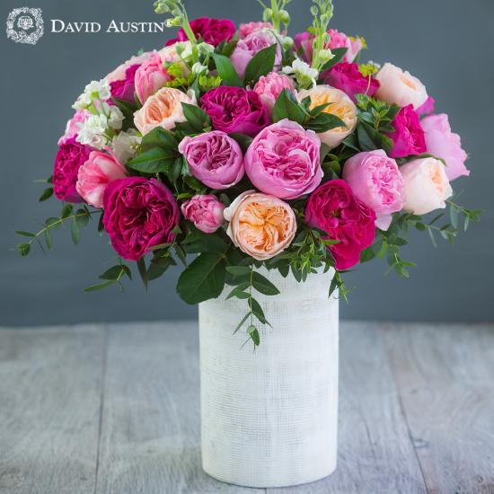 David Austin Spring Medley Bouquet