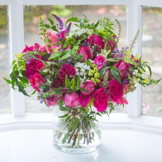 Seasonal Hot Pink Bouquet