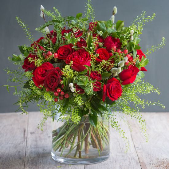Warm Winter Red Bouquet