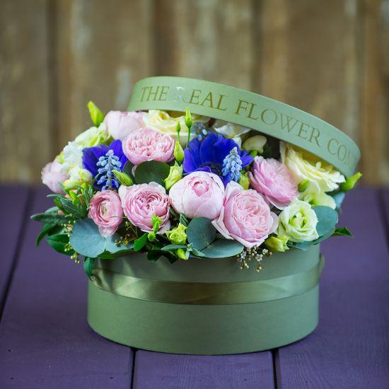 Spring Hat Box Arrangement