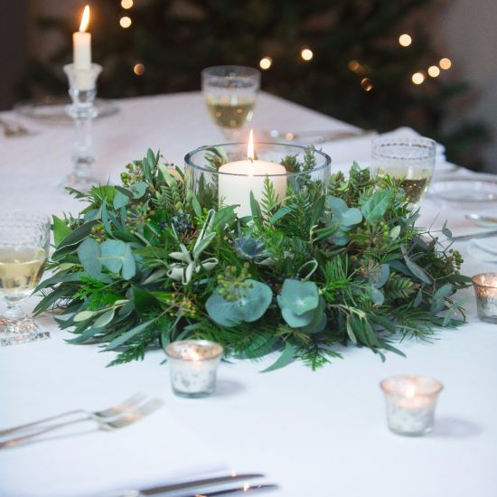 Thistle & Berry Table Wreath