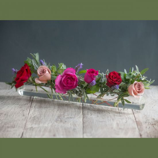 Winter Glass Flower Tube & Posy