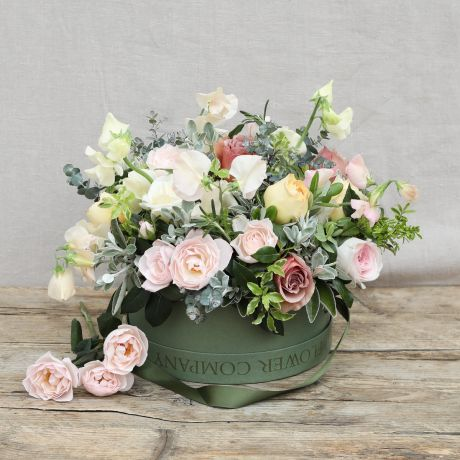 Antique Blossom Hat Box Arrangement