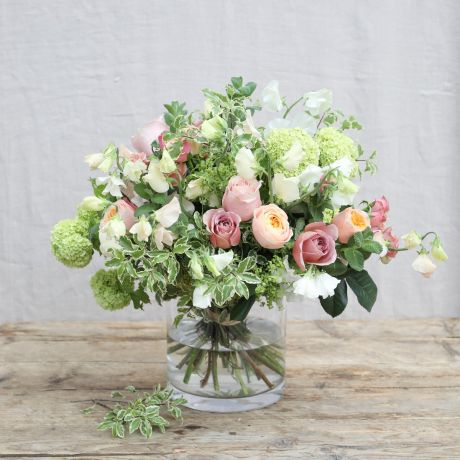 Antique Cream and Bronze Sweet Pea Bouquet
