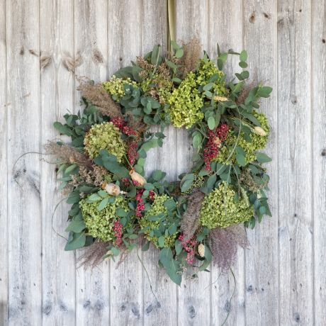 Pepper Berry Dried Door Wreath