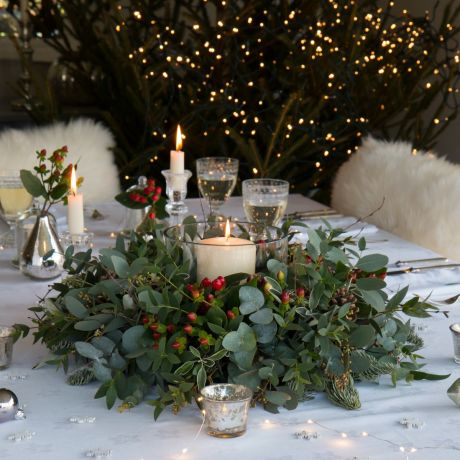 Berry & Foliage Table Wreath