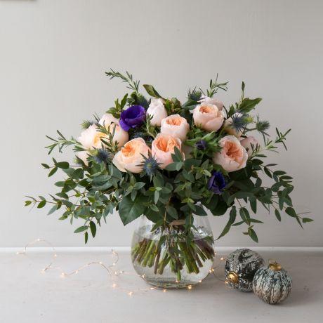 David Austin Juliet Christmas Bouquet
