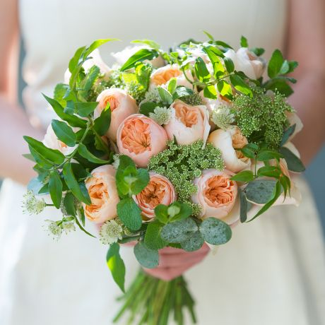 David Austin Juliet Bridal Bouquet