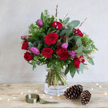 David Austin Tess Christmas Bouquet