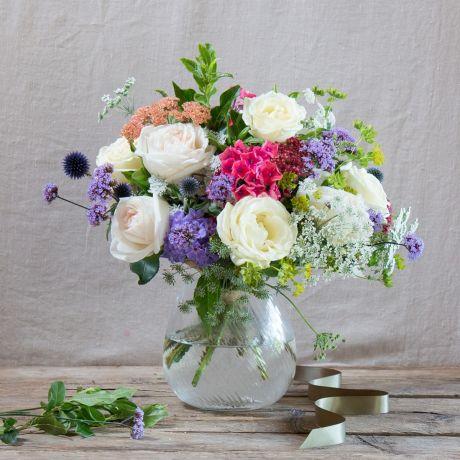 Fairtrade White & Wildflower Bouquet