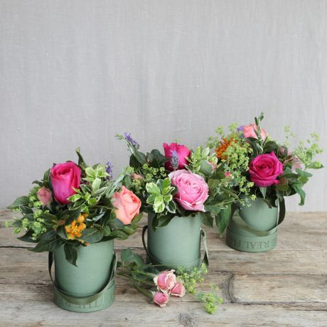 Florist Choice Hatbox Trio