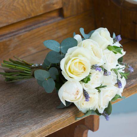 Ivory Bridesmaid & Flower Girl Bouquet