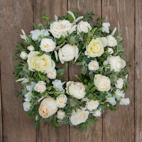 Ivory Funeral Wreath