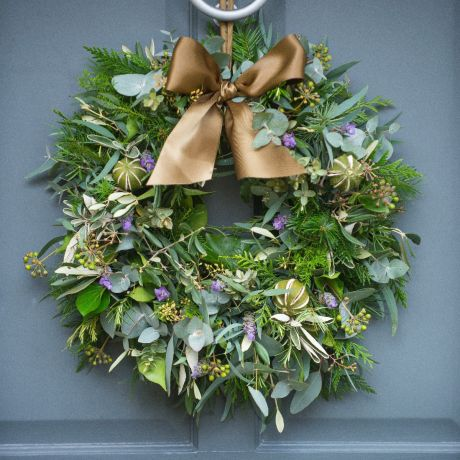 Lavender & Lime Door Wreath