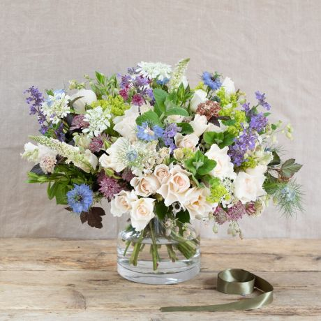 Margaret Merril & Wildflower Bouquet