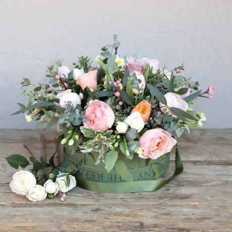 Mothers Day Spring Woodland Hatbox Arrangement