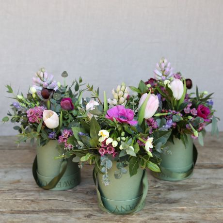 Mothers Day Spring Woodland Hatbox Trio