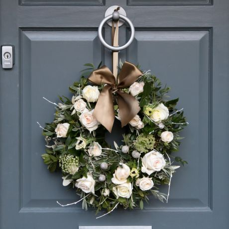 Nordic Rose Door Wreath