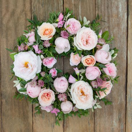 Pastel Pink Funeral Wreath