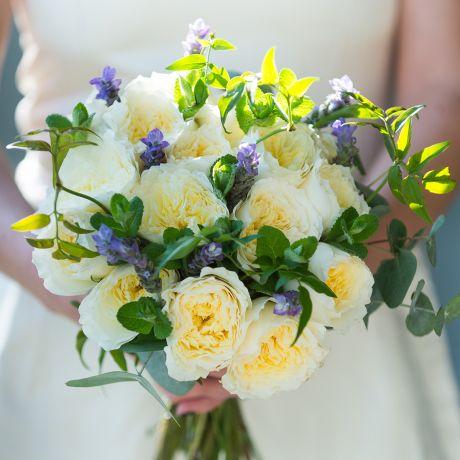 David Austin Patience Bridal Bouquet
