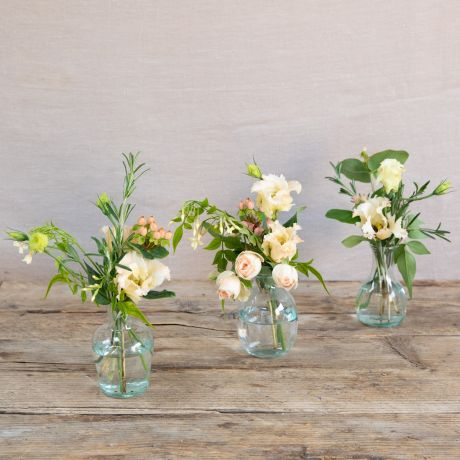 Seasonal Peach and Apricot Vase Trio
