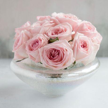 Platinum Splash Fidrio Vase