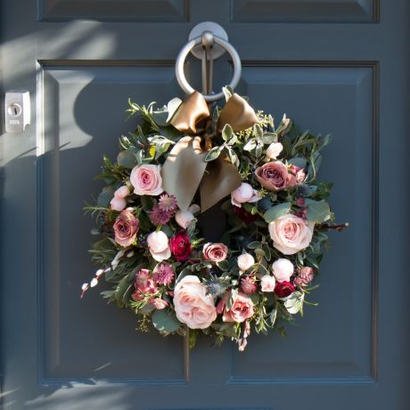 Woodland Antique Rose Door Wreath