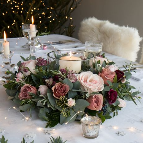 Woodland Antique Rose Table Wreath