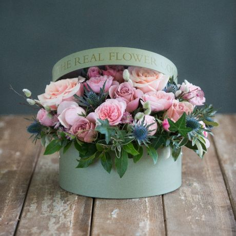 Woodland Antique Hatbox Arrangement