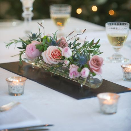 Woodland Antique Glass Flower Tube & Posy