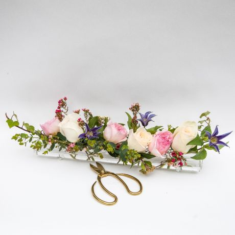 Glass Flower Tube and Posy