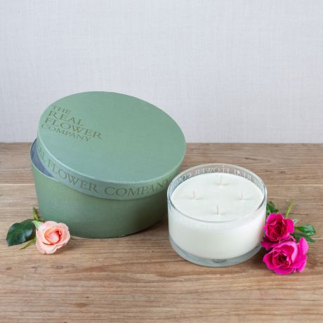 Moroccan Rose Scented 4 Wick Candle