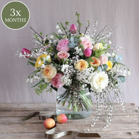 3 monthly bouquet subscriptions