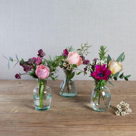 valentines vase trio