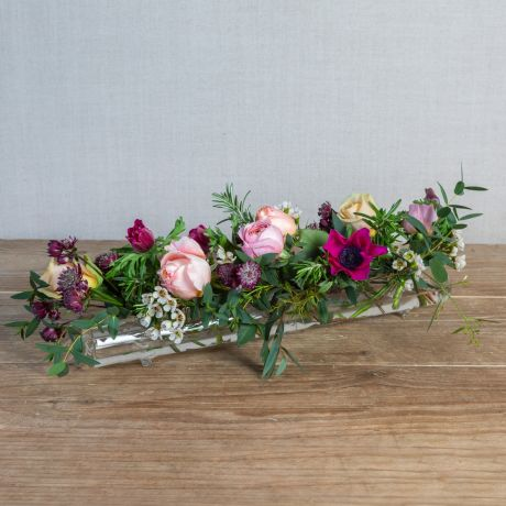 Valentine's Glass Flower Tube & Posy