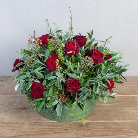 True Romance Hatbox Arrangement