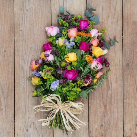 bright tied funeral sheaf
