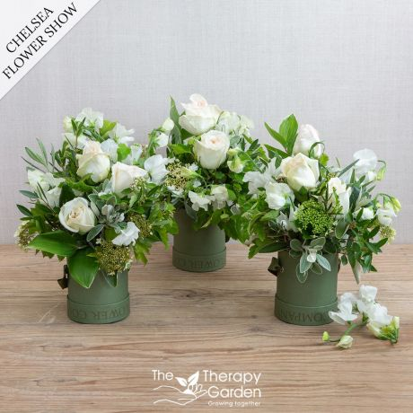 Chelsea English Garden Hat Box Trio