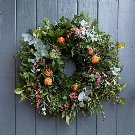citrus and spice eco friendly door wreath