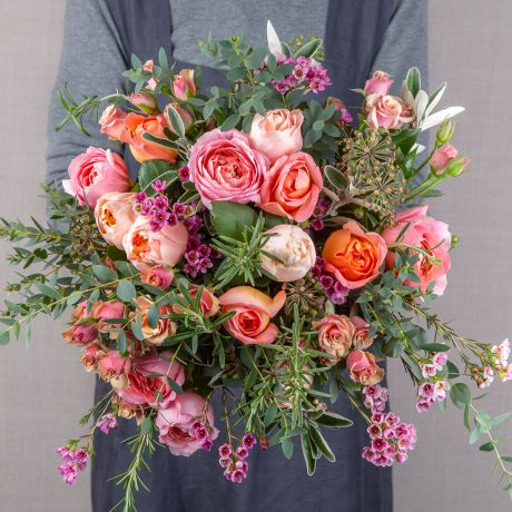 coral pick of the day bouquet