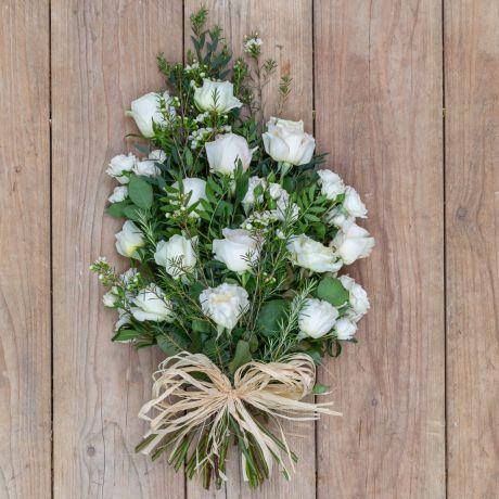 cream and ivory funeral sheaf