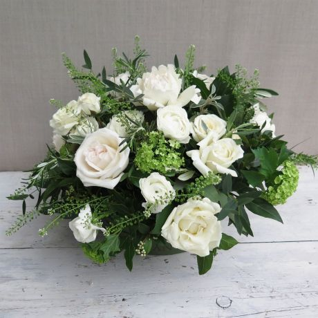 Cream and Ivory Pick Of The Day Hat Box Arrangement