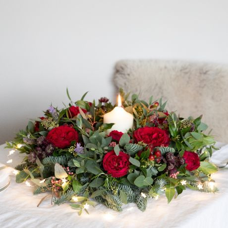 david austin christmas table wreath