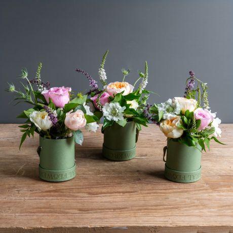 david austin florist choice hat box trio