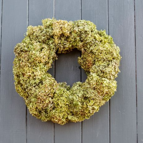 dried hydranga wreath large