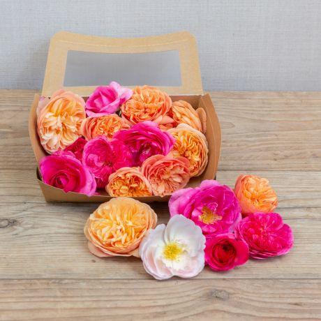 edible rose heads